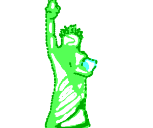 The gelatinous Statue of Liberty