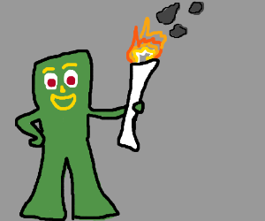 gumby carries the torch