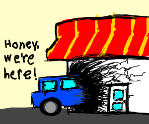 A literal drive-in restaurant