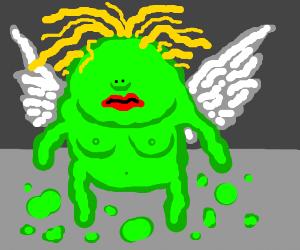 Eyeless goo girl grows wings