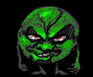 Evil green circle dude