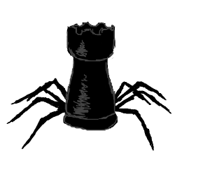 spiderook (chess rook with spider legs)