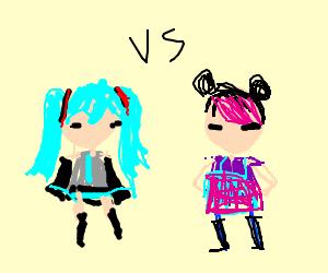 Miku (Vocaloid) Vs Miko (Transformers)