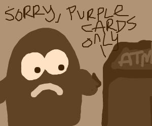 Purple ATM machine