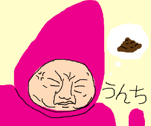 Japanese Teletubby angrily pooping