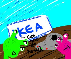 Aliens land in Ikea