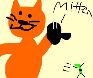 Kitten in Mitten