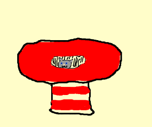 how to make a cat in the hat tail