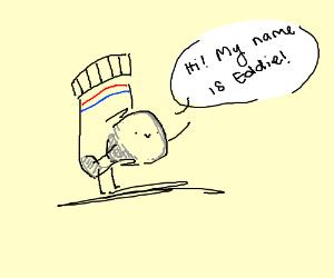 Sock named Eddie