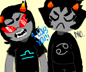 Terezi says she loves him, but Karkat says NO!