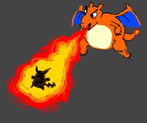 Charizard Roasts Pikachu