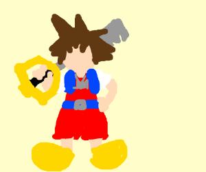 Sora from Kingdom Hearts, posing w/ keyblade
