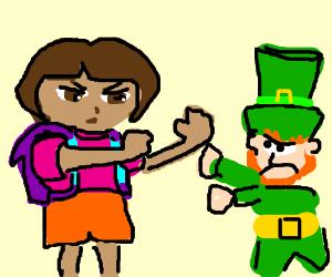 Dora vs Leprechaun