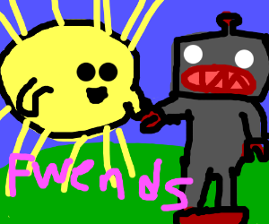 The sun and a robot are best friends