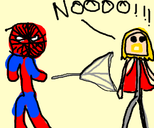 Spider man kills thor