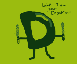 Drawception D dual wields short lightsabers