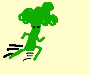 Broccoli man running