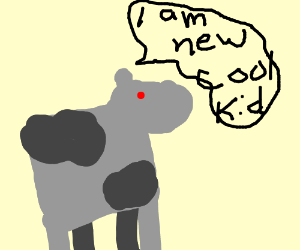 the robot cow is the new cool kid!