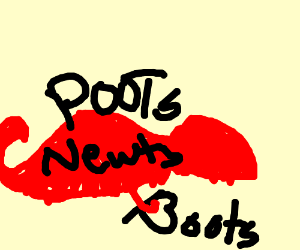 poots on newts with boots