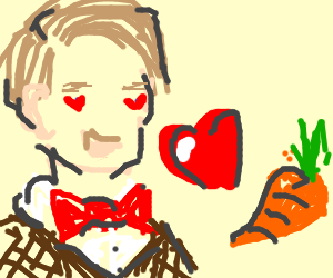 The Doctor adores carrots.