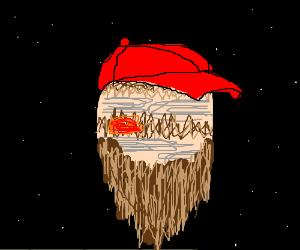 jupiter with a beard an a hat