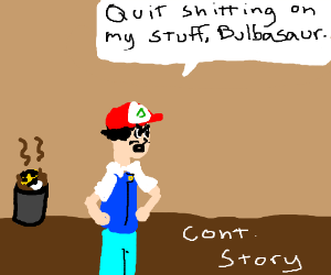 Ash discarded the poopy ultra ball(cont story)