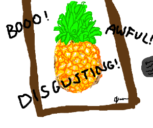 A Poorly Drawn Pineapple