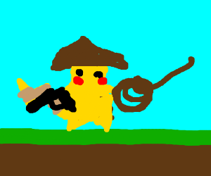 picachu as a cowboy