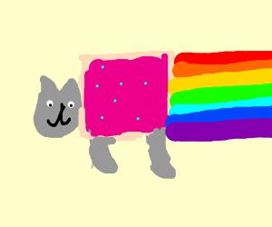 cat farting rainbows
