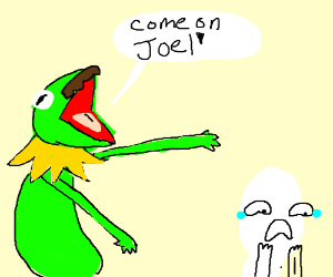 Kermit dad mad at Joel