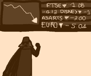 Darth Vader is feeling the economic crisis