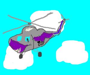 Aerodactyl helicopter