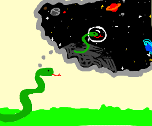 A snake wishes to be an astronaut.