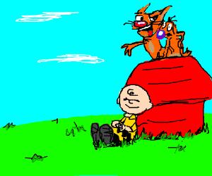 CatDog Peanuts crossover