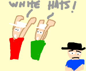 Everybody with white hats stand up