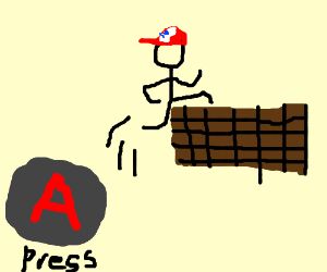 """Press the """"A"""" Button to Jump!"""