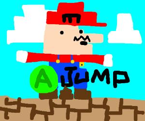 Press A to make Mario Jump!