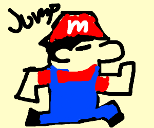 8 bit Mario jump