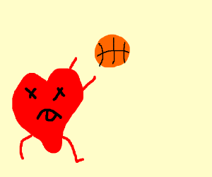 Heart dies while shooting a basketball