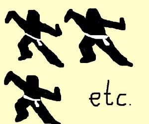 Everybody was Kung-Fu fighting