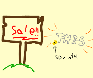 a sale on this...