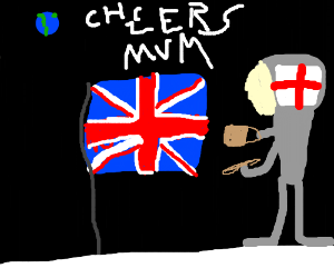 uk flag goes to space
