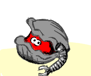 clam with robotic arm