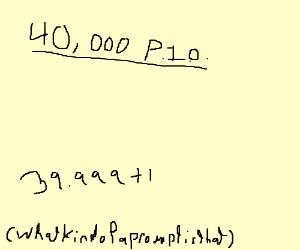 40,000. P.i.o.