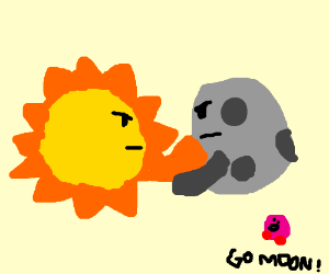 Sun&moon fight, Kirby cheers for the moon