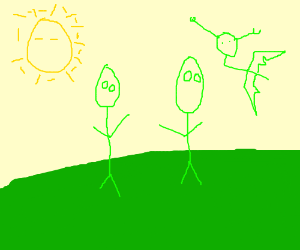area 51s childs painting of a unknown land