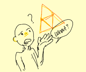 A guy doesn't know what the triforce is