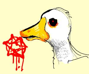 Goose becomes demonic