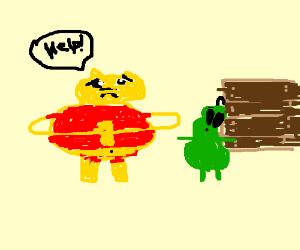WinnieThePooh is scared of dressing as alien