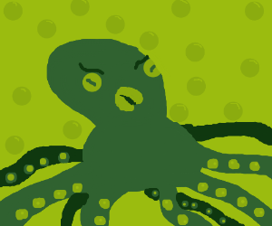 Displeased octopus